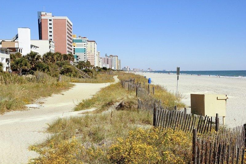Myrtle Beach Sand and Blue Sky Vista