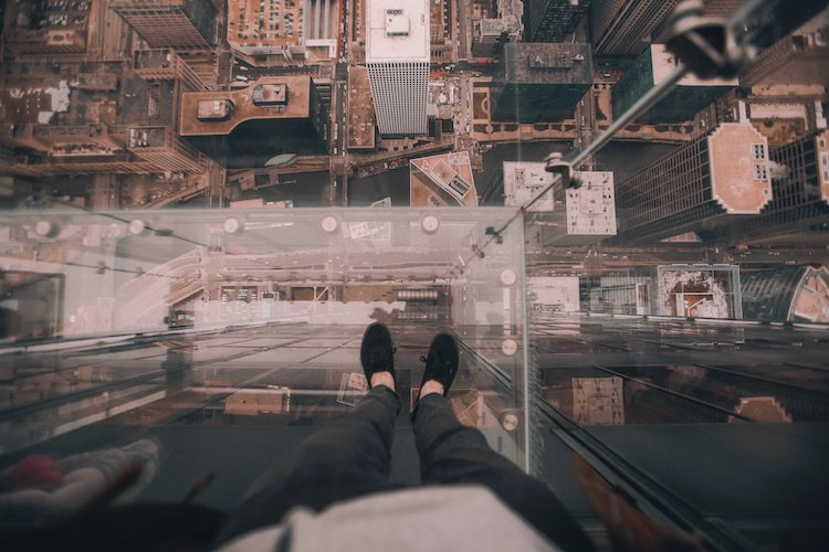 Among the things to do in Chicago for couples is the Ledge at Skydeck Chicago.