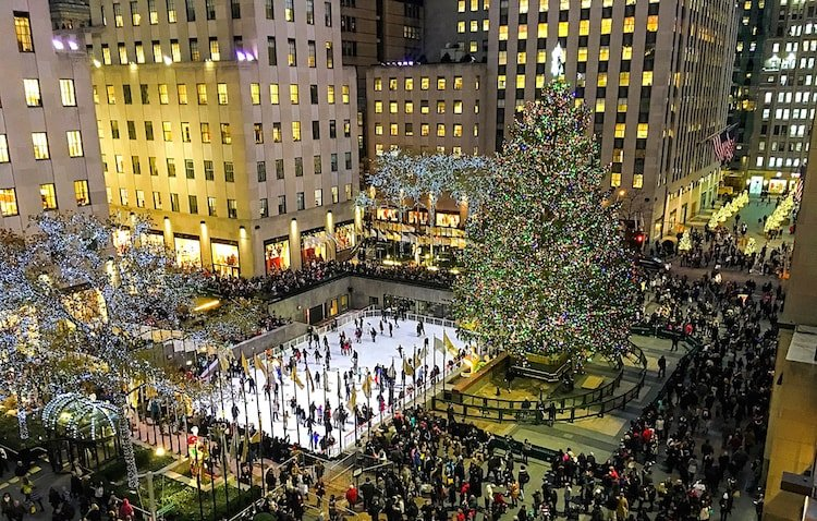 Skip Rockefeller Center and go ice skating at Bryant Park instead.