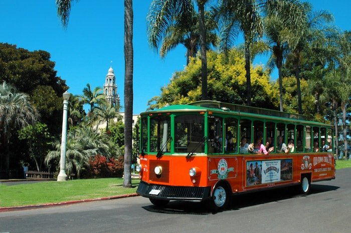 Save money and see the sights by taking the Old Town Trolley.