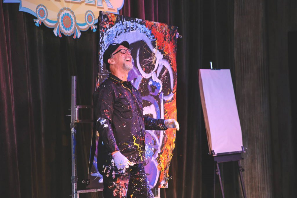 Speed painter, Dan Dunn, performs at the Festival of Wonder at Silver Dollar City