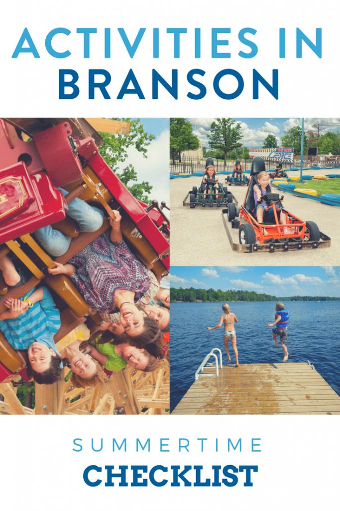 activities in Branson MO