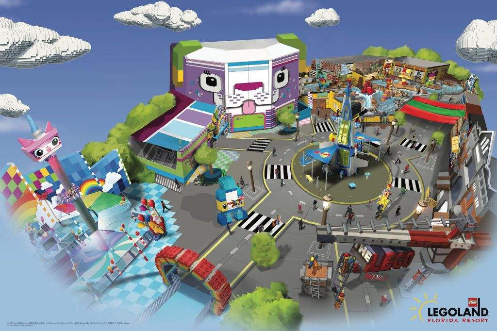 THE LEGO MOVIE WORLD at LEGOLAND Florida rendering