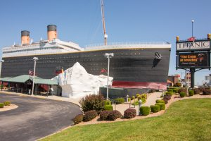 The Titanic Museum exterior. Things to Do in Branson for adults.