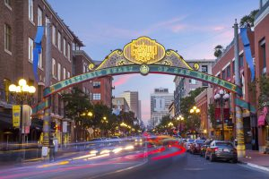 Strolling through Gaslamp Quarter is among the free things to do in San Diego