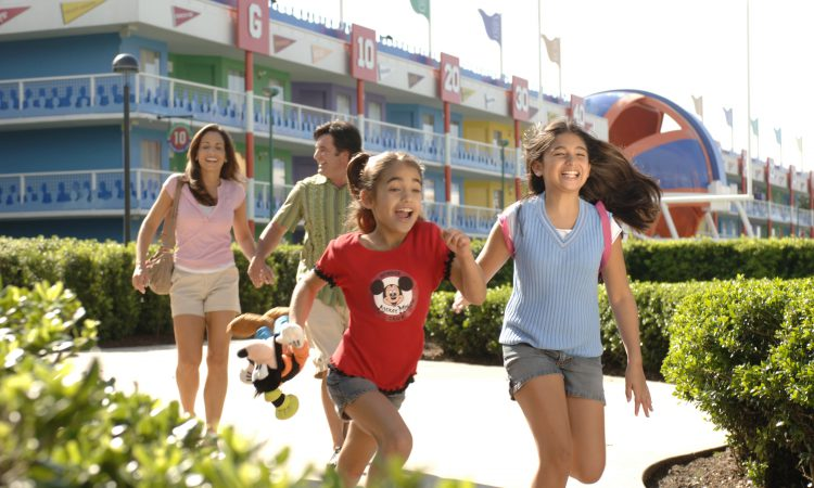 Benefits of Staying on Disney Property - Family at All-Star Movies Resort