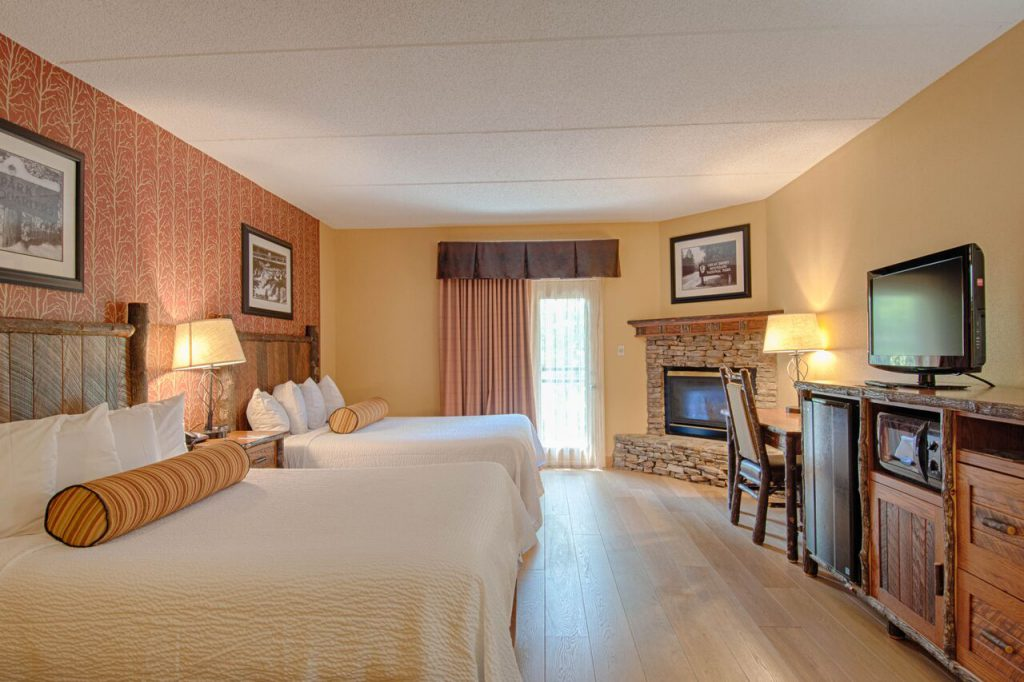 A hotel room in Gatlinburg