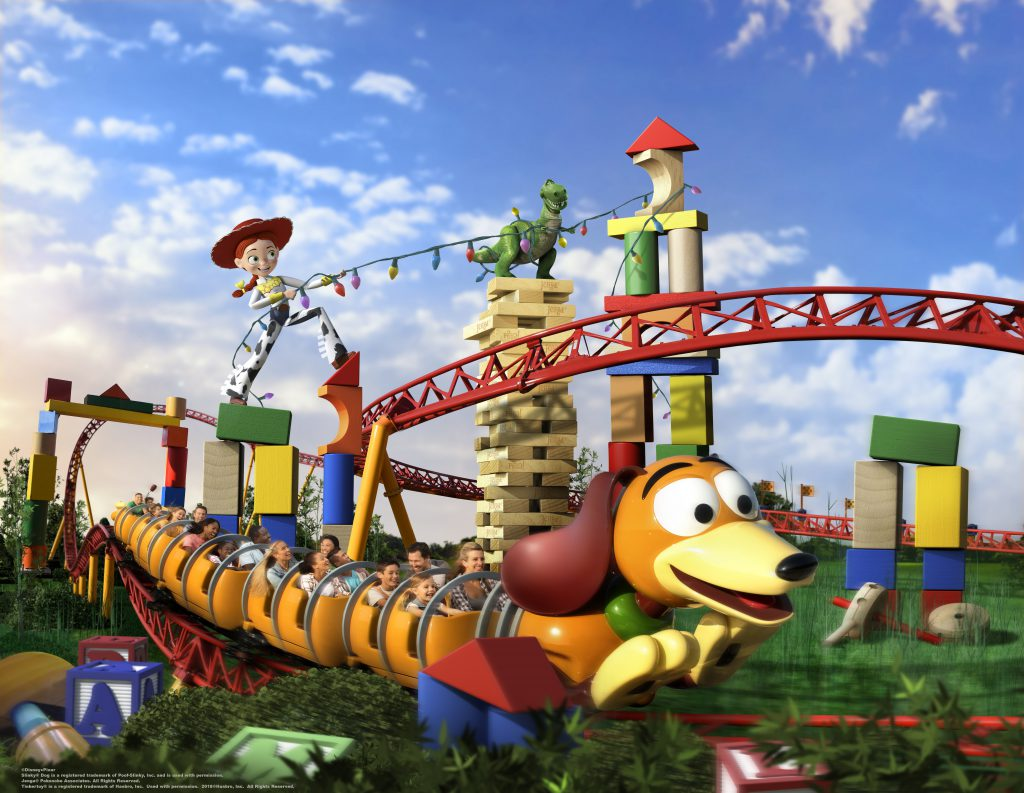 New Slinky Dog Dash roller coaster at Toy Story Land at Disney World