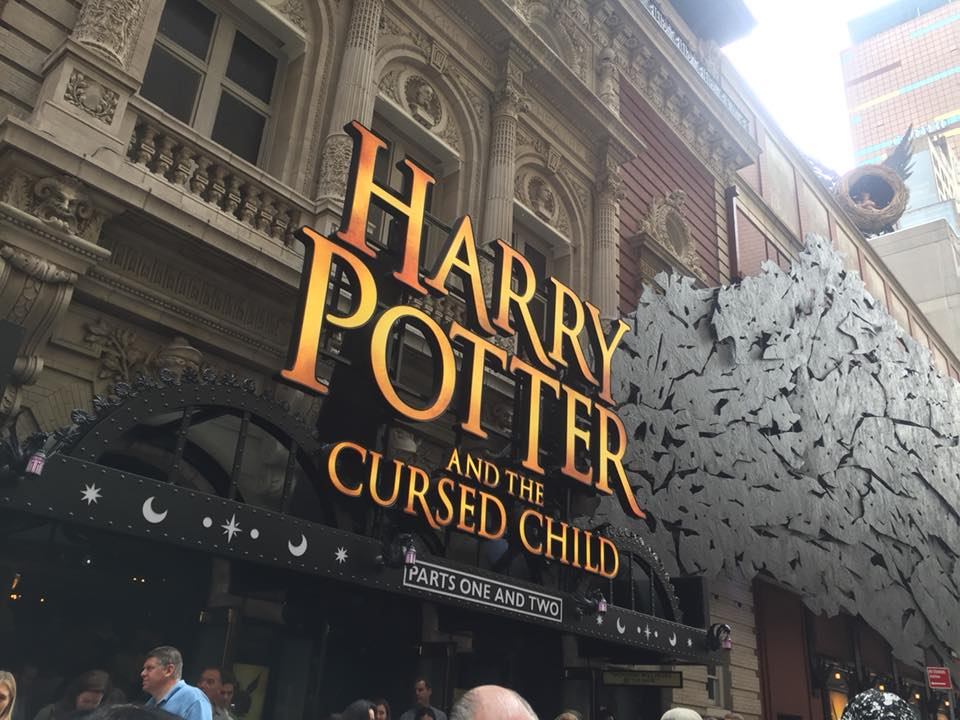 Harry Potter Play NYC theater exterior