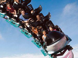 Kids ride the Shamu Express at SeaWorld Orlando