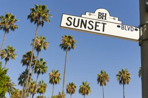 Hollywood Tourist Attractions include the strip of Sunset Boulevard