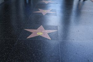 The Hollywood Walk of Fame stars