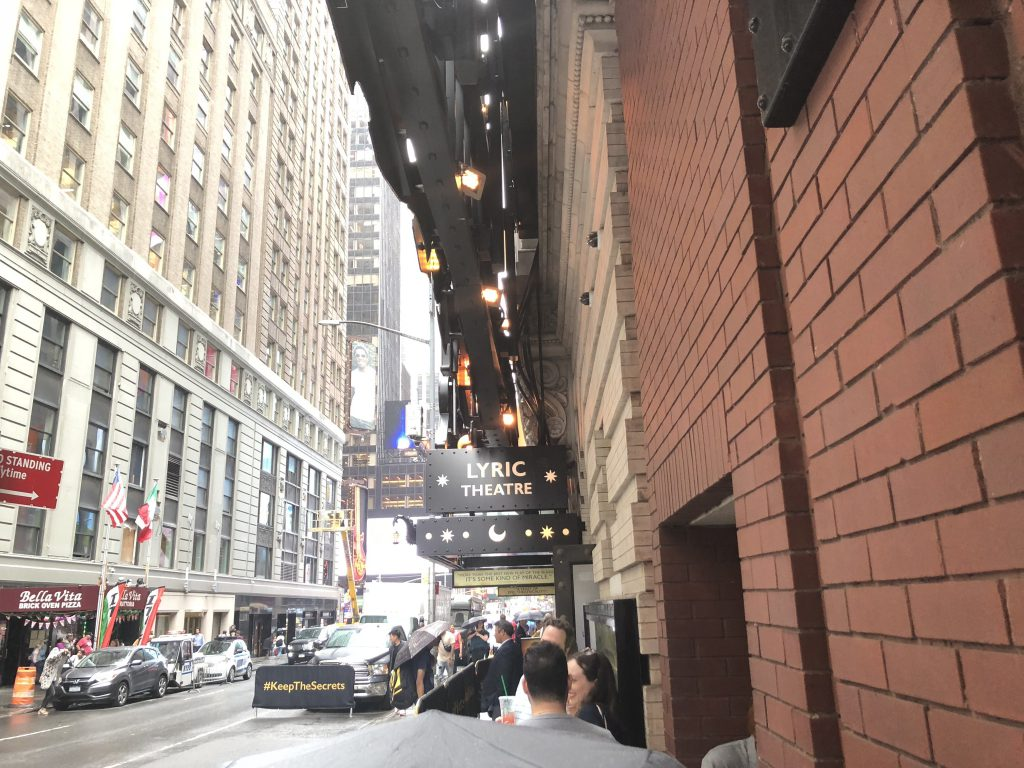 The Harry Potter play NYC line at the Lyric Theatre