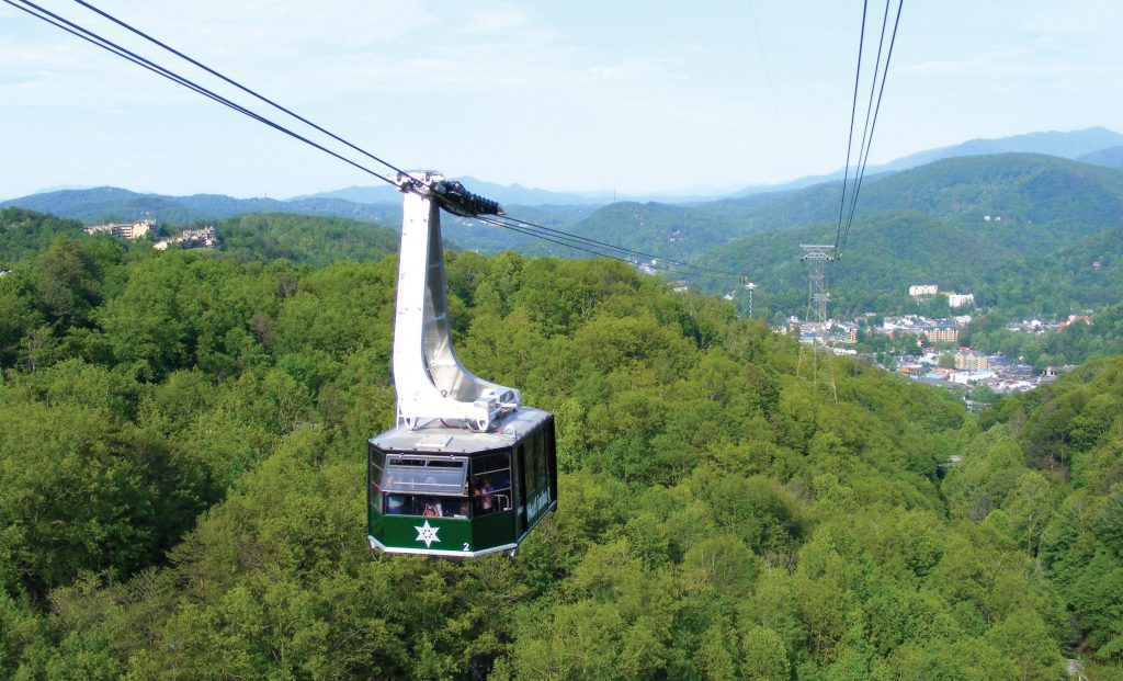 The Ober Gatlinburg Aerial Tramway is enclosed.