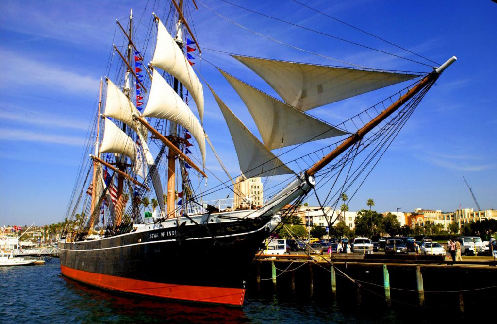 The Star of India ship at the Maritime Museum of San Diego