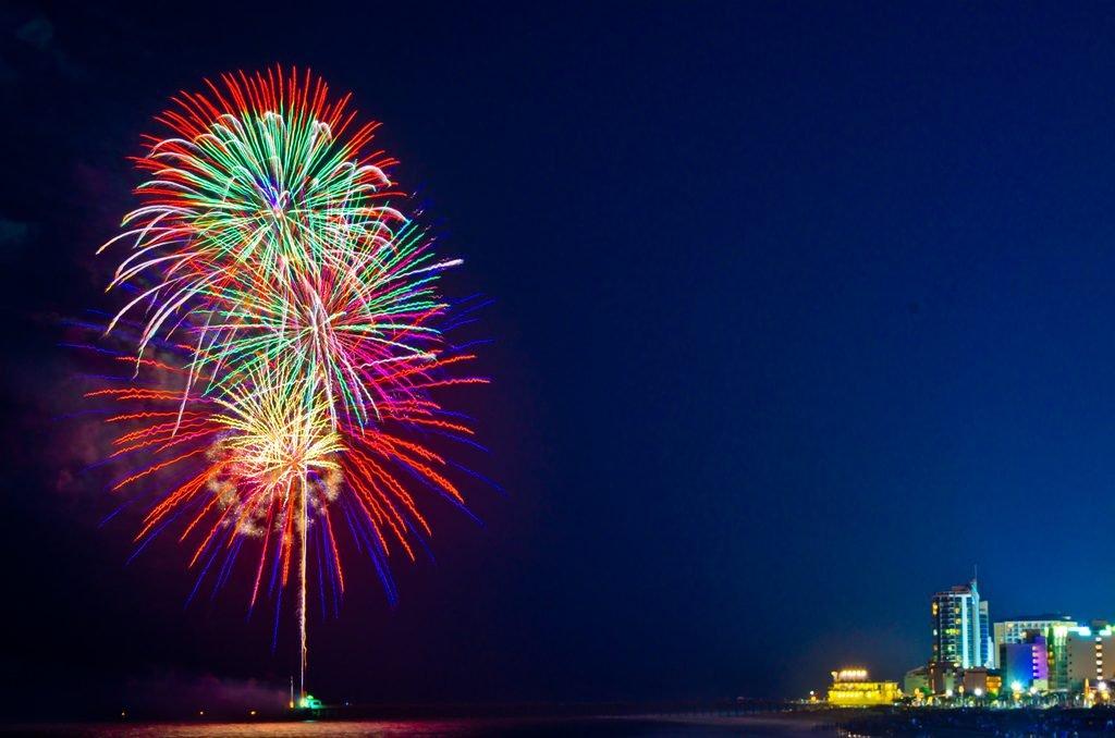Fireworks explode over Myrtle Beach