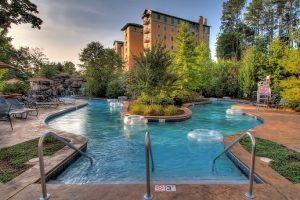 The lazy river at RiverStone Resort and Spa