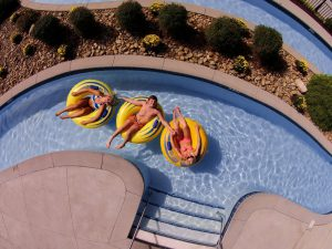 The lazy river at The Resort at Governor's Crossing in Pigeon Forge