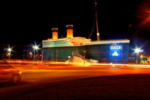 The exterior of the Titanic Museum attraction in Branson, MO