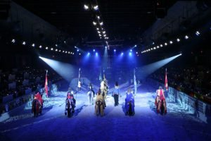 Knights stand by at Medieval Times in Myrtle Beach