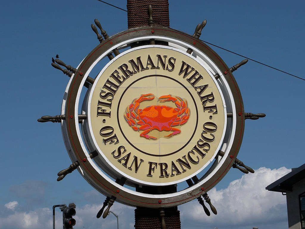 Fisherman's Wharf sign in San Francisco CA