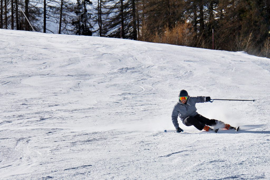 Person skiis down a mountain in Pigeon Forge, Tennessee