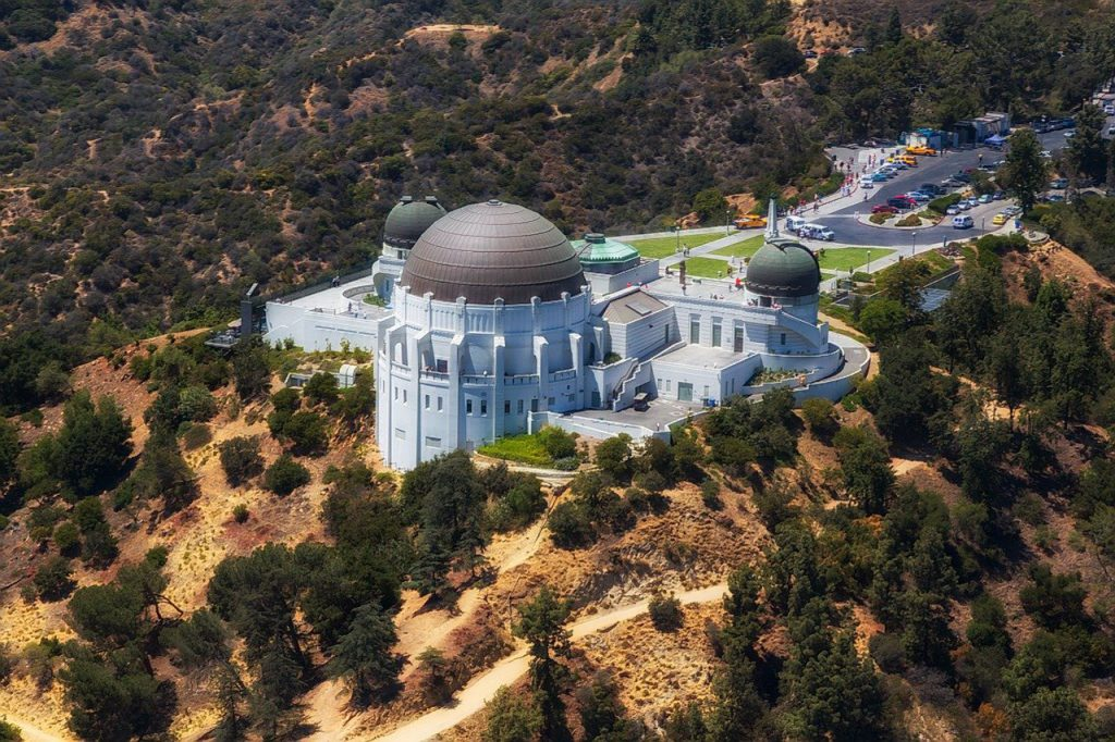 Griffith Observatory aerial view