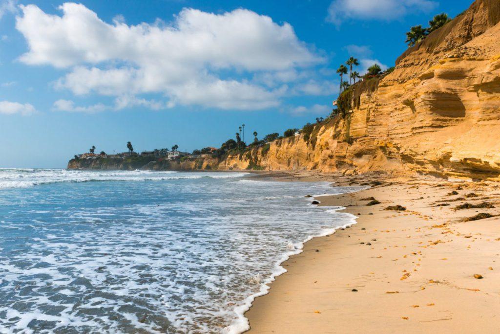 San Diego beach and cove on a sunny day