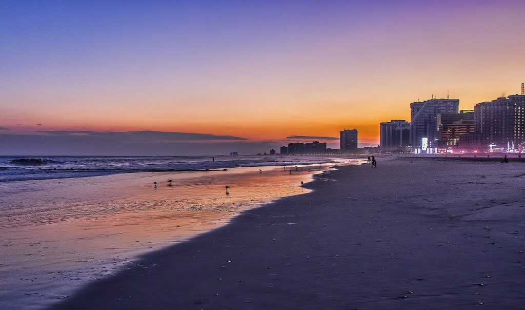 Atlantic City Beach at sunset