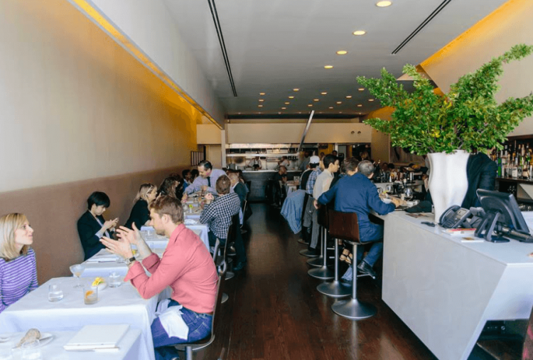 Patrons dine at Blackbird in Chicago