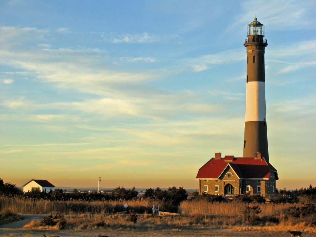 The Fire Island Light Station at dawn