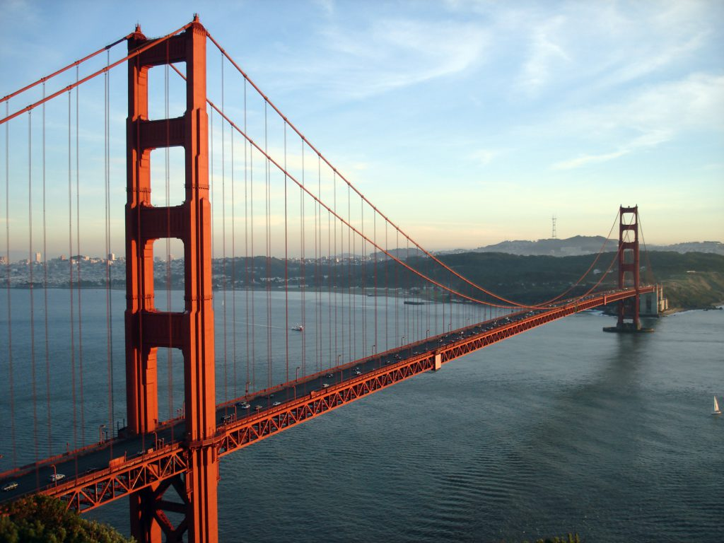 The Golden Gate Bridge is part of many tours in San Francisco