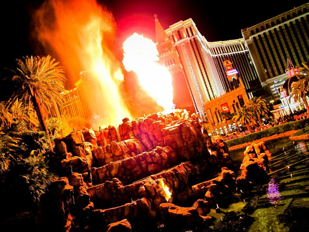 The volcano show at the Mirage