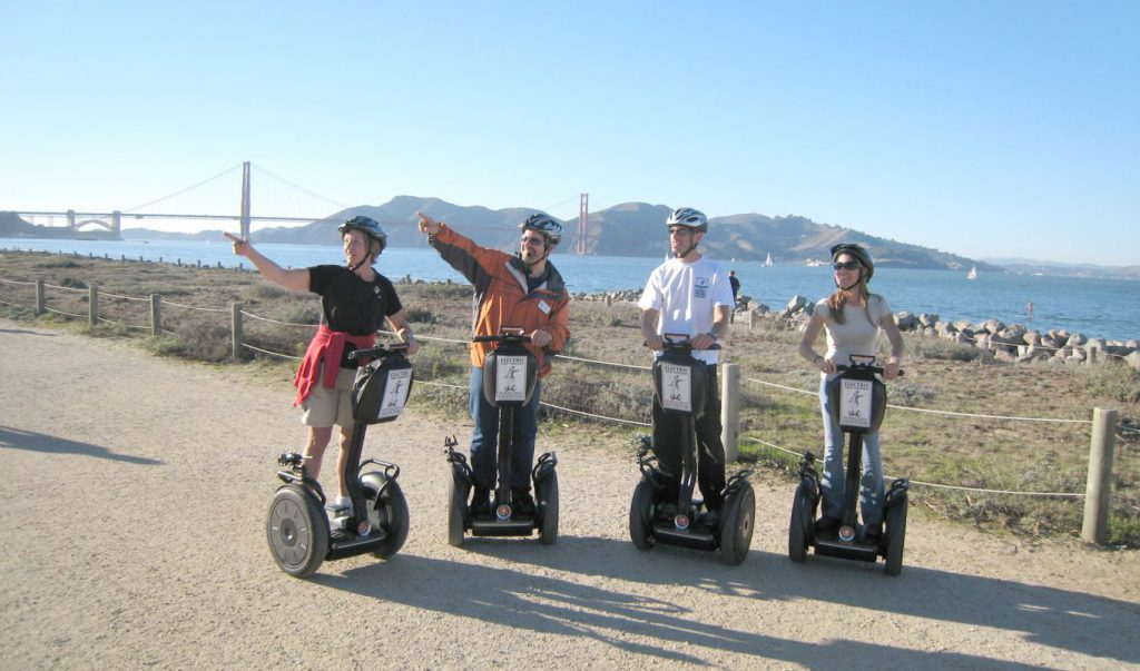 Sign up for a segway tour in San Francisco