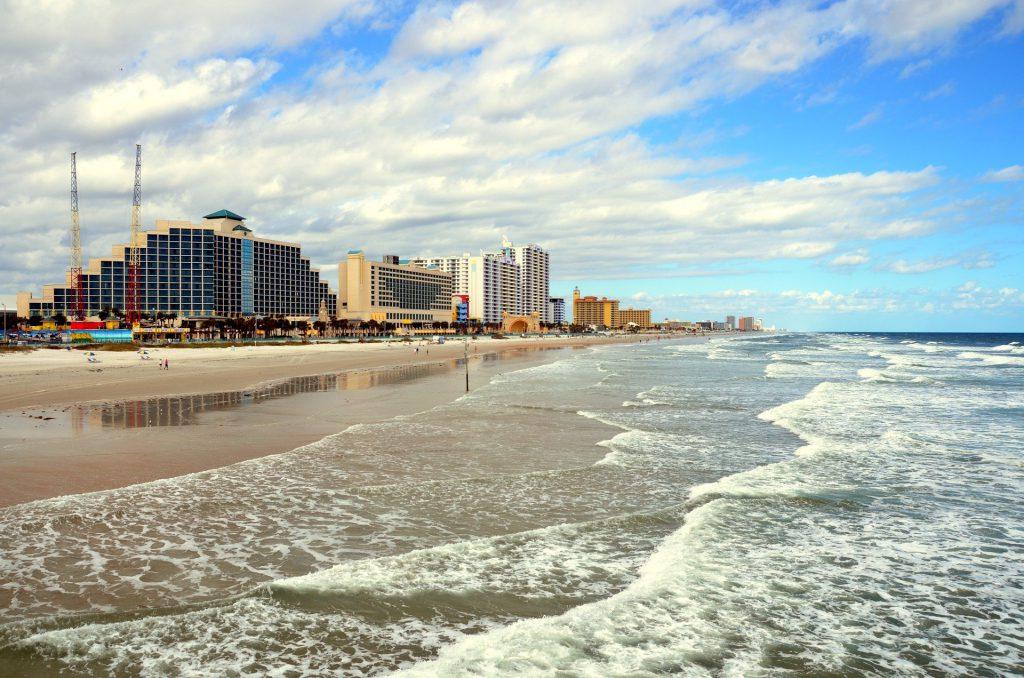 Daytona Beach on a sunny day.