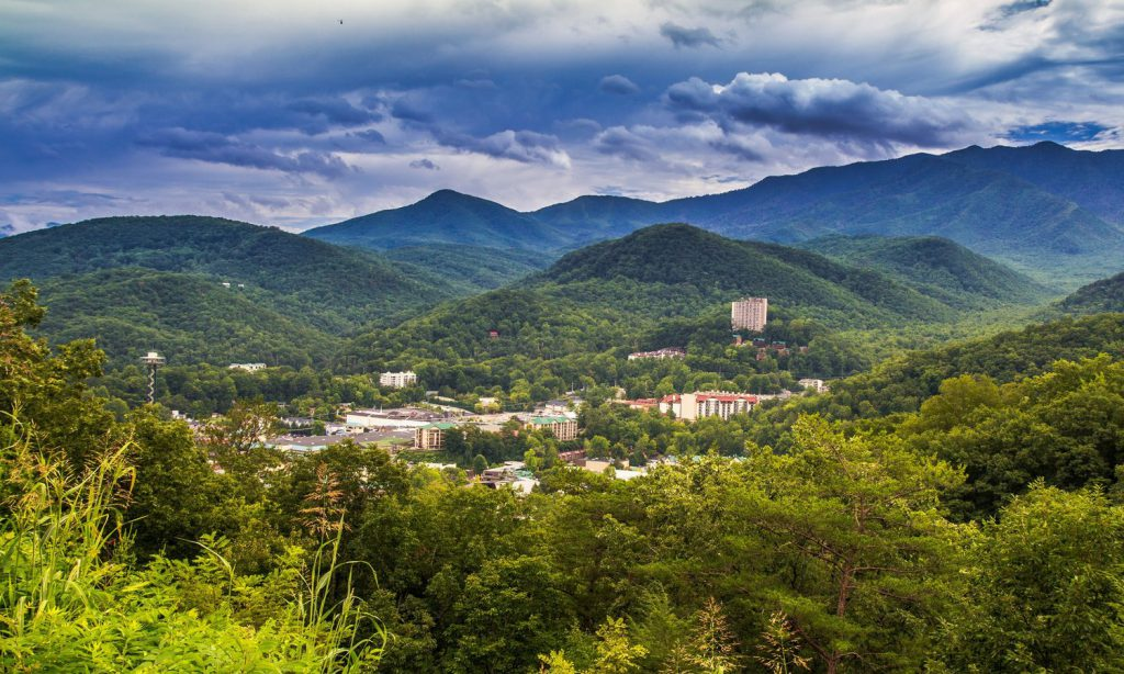 A view of the Smoky Mountains and downtown Gatlinburg - Planning a Gatlinburg vacation