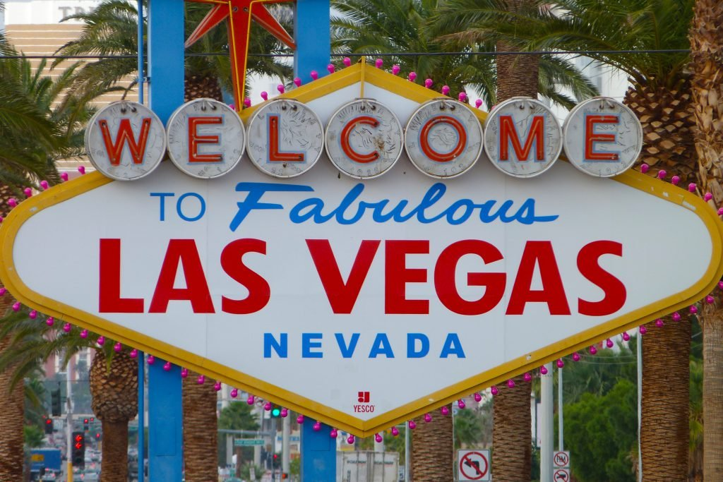 """The iconic """"Welcome to Fabulous Las Vegas Nevada"""" sign during the day"""