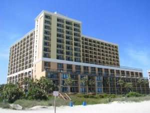 The Caravelle Resort exterior, among the Myrtle Beach hotels with free parking
