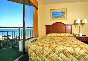 Book your stay in one of the rooms at the Patricia Grand resort, one of the Myrtle Beach hotels with free parking