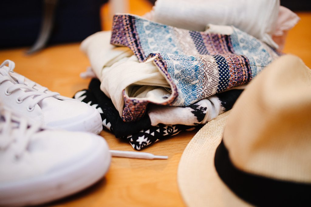 Make sure you pack the right belongings for your San Francisco honeymoon, like this hat, sneakers, and scarves