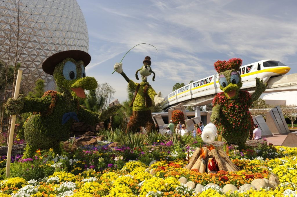 Things to do in Orlando during spring break include Epcot International Festival of Flowers
