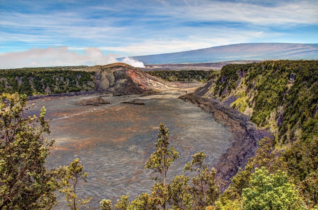 Kilauea crater in Hawai'i Volcanoes National Park