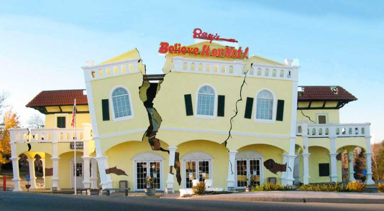 Among the best Branson Museums is Ripley's Believe It or Not whose exterior is shown here