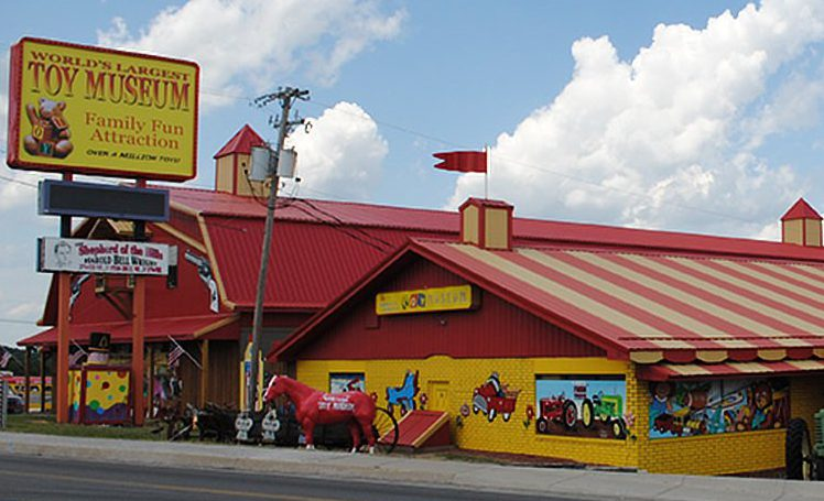 The exterior of the World's Largest Toy Museum, one of the Branson museums