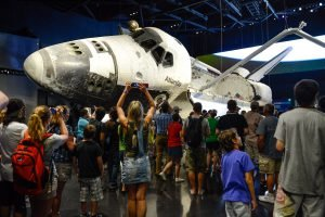 Guests take pictures of Atlantis at one of the Orlando Museums