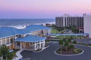 The sunrises over the DoubleTree Resort in Myrtle Beach