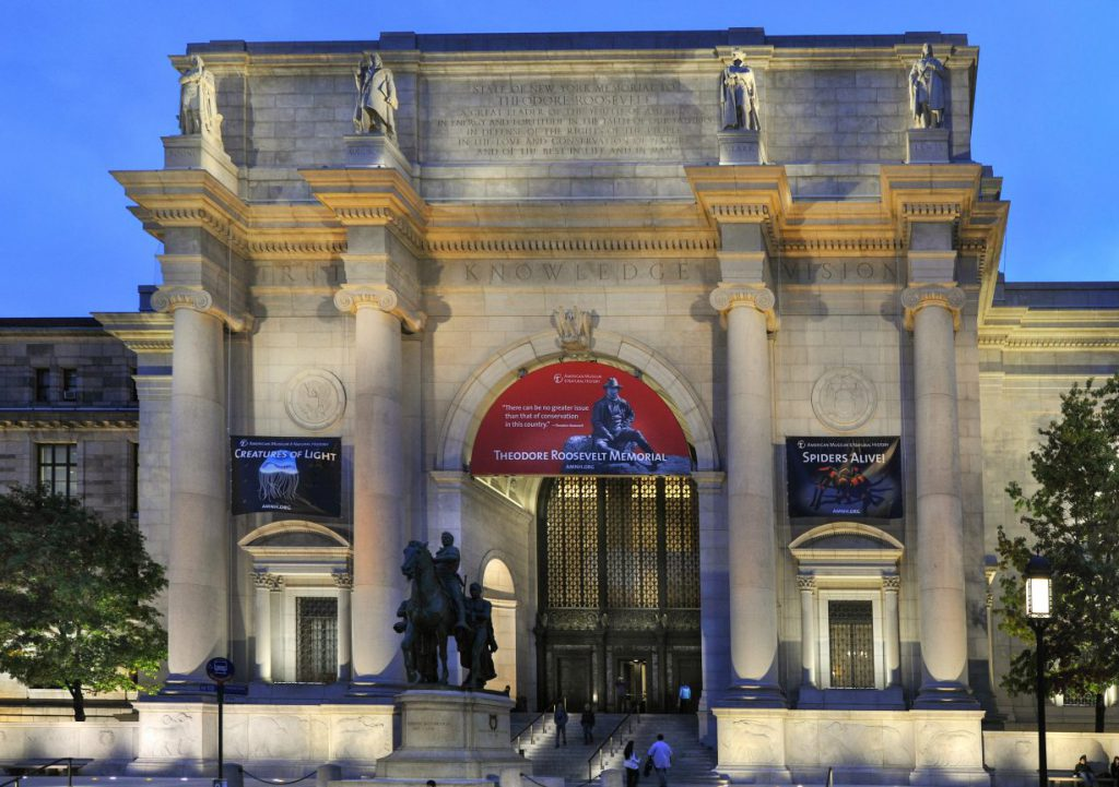 The entrance to the American Museum of Natural History