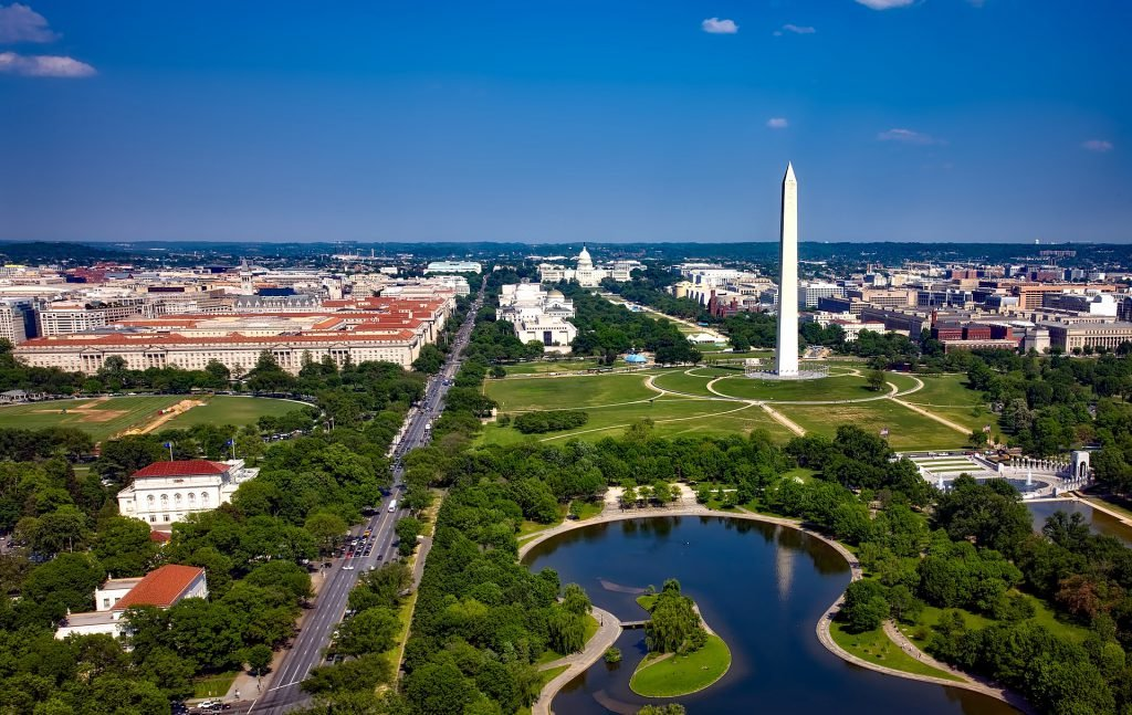 Visiting the National Mall is one of the popular free things to do in Washington DC.