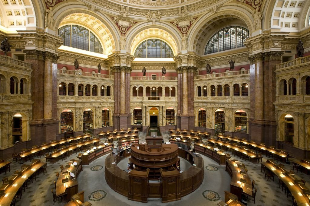 The Library of Congress is an impressive addition to any list of free things to do in Washington DC