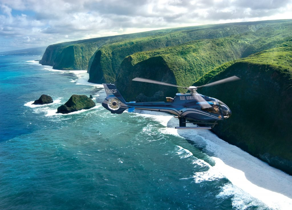 Blue Hawaiian Helicopter tours are a great addition to any Big Island 5-day Itinerary